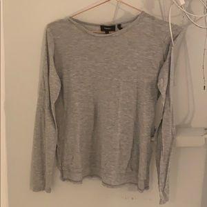 theory grey long sleeve top